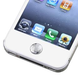 INSTEN Clear Diamond Home Button Sticker for Apple iPhone/ iPad/ iPod