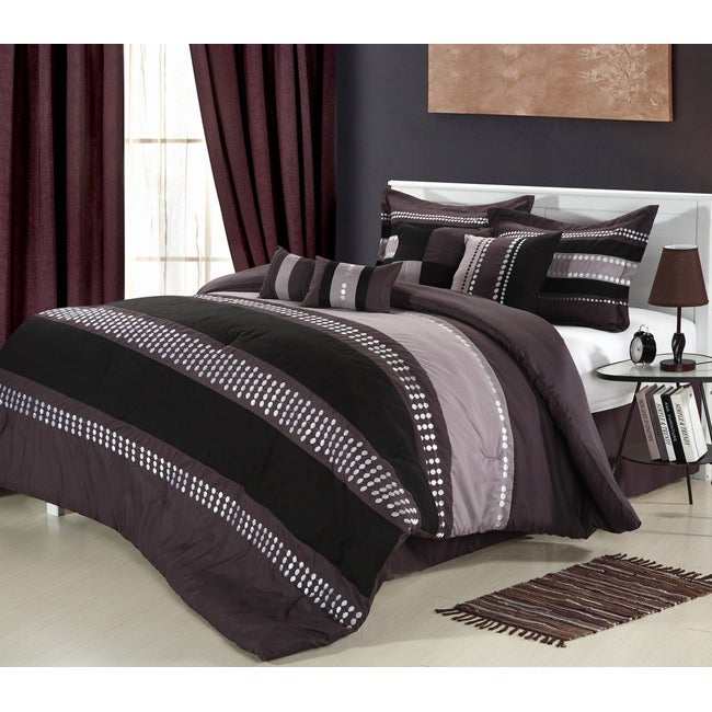 Castle Rock Purple 12-piece Bed in a Bag with Sheet Set