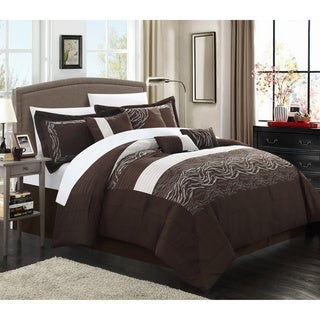 Brown Zebra 12-piece Bed in a Bag with Sheet Set