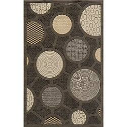 Soho Fashion Power-Loomed Charcoal Wool Rug (8'0 x 11')