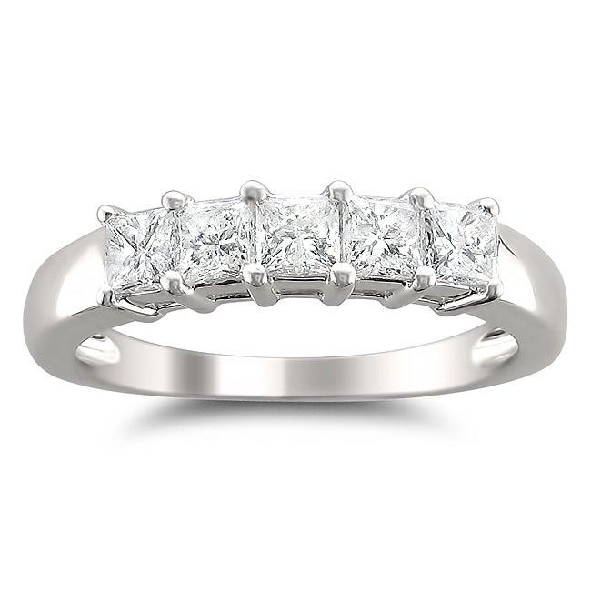 14k White Gold 7/8ct TDW Princess-cut Diamond Wedding Band (H-I, I1-I2)