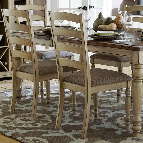 TRIBECCA HOME Carlingford Buttermilk Country Dining Chair Set Of 2