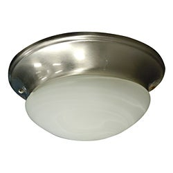 Two Light Stainless Steel Ceiling Fan Light Kit