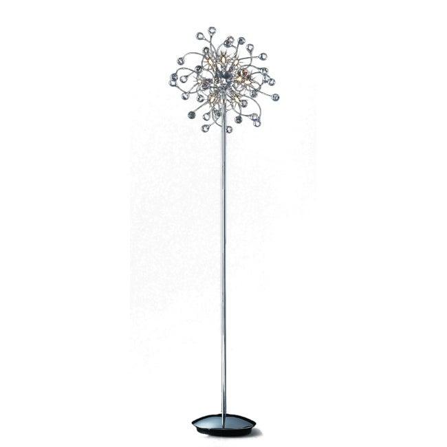 Joshua Marshal Home Collection Funky 12-light Chrome Crystal Floor Lamp