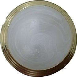 Two Light Polished Brass Flush Mount