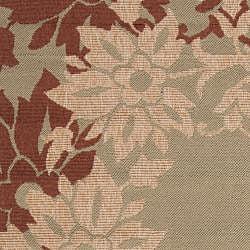 Parana Russet Floral Border Indoor/Outdoor Rug (7'6 x 10'9)