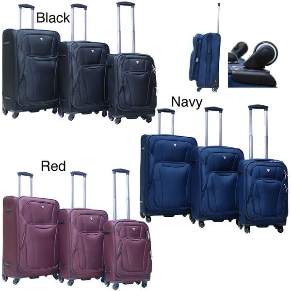Calpak Barclay 3-piece Lightweight Expandable Softside Luggage Set