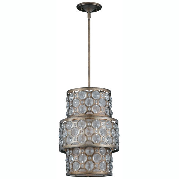 Cartier 6-light Weathered Bronze Chandelier