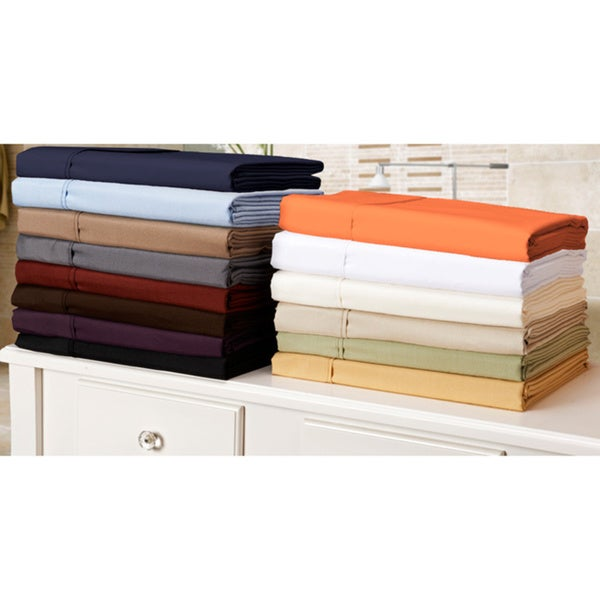 Microfiber Solid Plain 100-percent Wrinkle-free Sheet Set