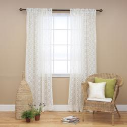 Ivory Lace 84-inch Curtain Panel Pair