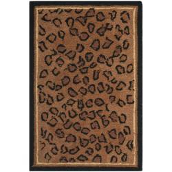 Safavieh Hand-hooked Chelsea Leopard Brown Wool Rug (1'8 x 2'6)
