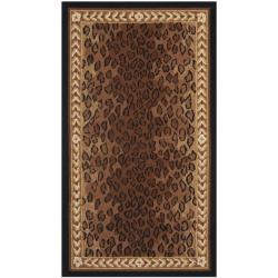 Safavieh Hand-hooked Chelsea Leopard Brown Wool Rug (2'9 x 4'9)