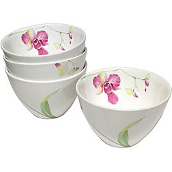 Red Vanilla Leilani Coupe Rice/ Fruit Bowls (Set of 4)