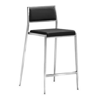 Zuo Black Dolemite Counter Chair (Set of 2)