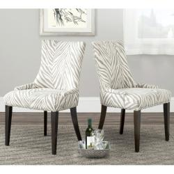 Safavieh 'Becca' Zebra Grey Dining Chair