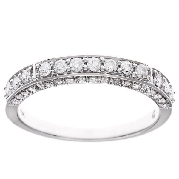 D'sire 10k White Gold 3/5ct TDW Diamond Ring (H-I, I2-I3)