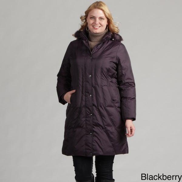 London Fog Women's Plus Size Down Coat