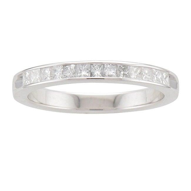Sterling Silver 3/8ct TDW Princess-cut Diamond Band (I-J, I2-I3)