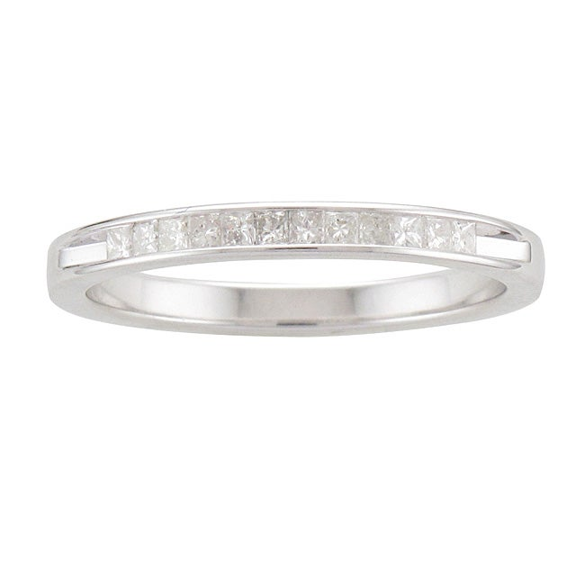 Sterling Silver 1/5ct TDW Princess-cut Diamond Band (I-J, I2-I3)