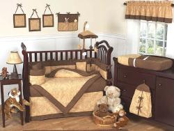 Sweet Jojo Designs Camel Brown Paisley 9-piece Crib Bedding Set
