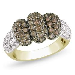 Miadora 14k Yellow Gold 1 1/2ct TDW Brown Diamond Ring (G-H, I1-I2)