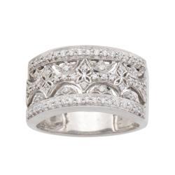 Sterling Silver 1/4ct TDW Diamond Fashion Ring (I-J, I2-I3)