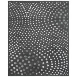Safavieh Handmade Soho Deco Wave Dark Grey N. Z. Wool Rug (9'6 x 13'6)