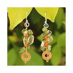 Sterling Silver 'New Love' Multi-gemstone Earrings (Thailand)