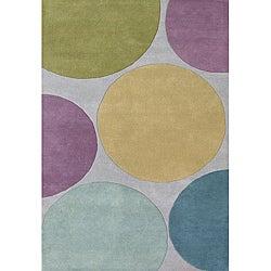 Alliyah Handmade Multicolored New Zealand Blend Wool Rug(8' x 10')