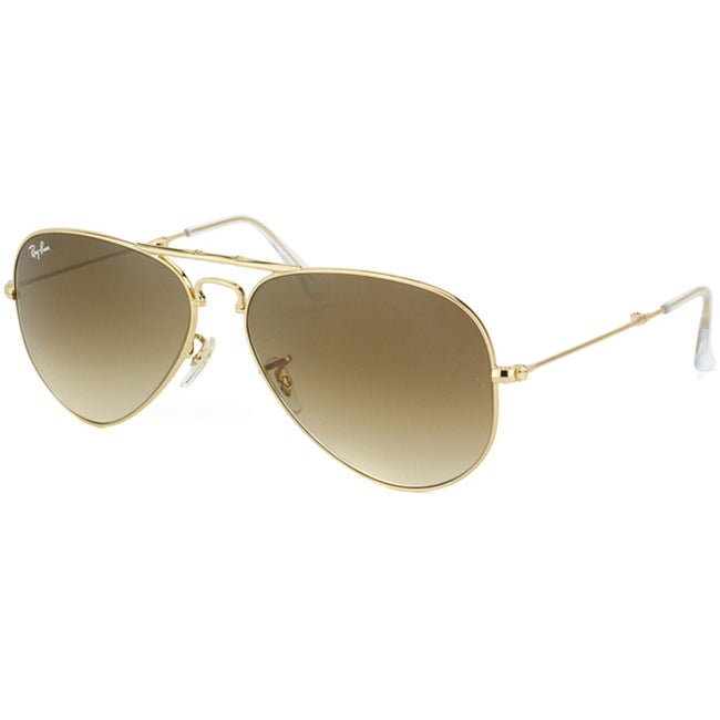 Ray-Ban Unisex 'RB3479 Foldable Aviator 001/51' Gold Metal Sunglasses