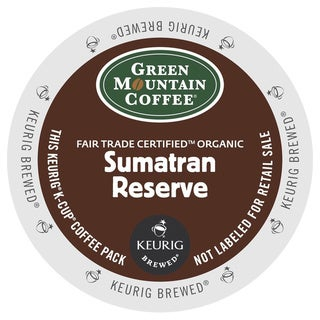 Green Mountain Coffee Fair Trade Organic Sumatran Reserve K-Cup for Keurig Brewers (Case of 96)