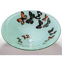Butterfly Glass Sink Bowl