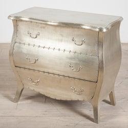 Corbett White Metal 3-Drawer Dresser (India)