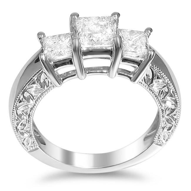 14k White Gold 2ct TDW Princess Diamond Engagement Ring (H-I, I1-I2)