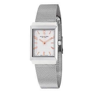 Stuhrling Original Women's Prospect Quartz Stainless Steel Mesh Bracelet Watch