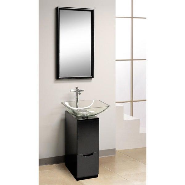 DreamLine 3-piece Contemporary Black Vanity Set