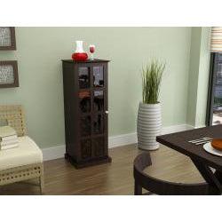 Espresso Windowpane 24-bottle Wine Cabinet