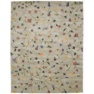 Nourison Hand-tufted Julian Light Green Wool Rug (8' x 11')