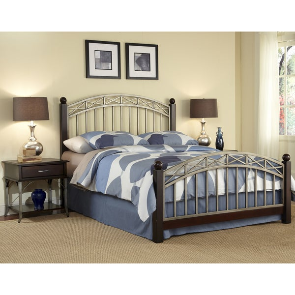 Bordeaux King Bed/ Two End Tables
