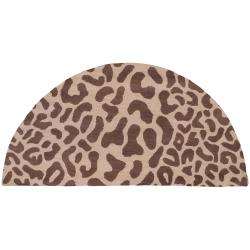Hand-tufted Tan Leopard Montpellier Animal Print Wool Rug (2' x 4')