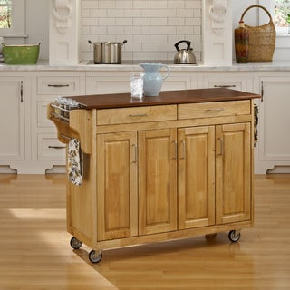 Natural Finish with Oak Top Create-a-Cart
