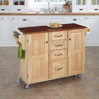 Natural Finish with Cherry Top Create-a-Cart