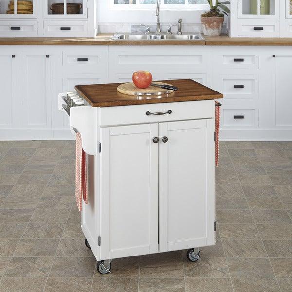White Finish Cuisine Cart