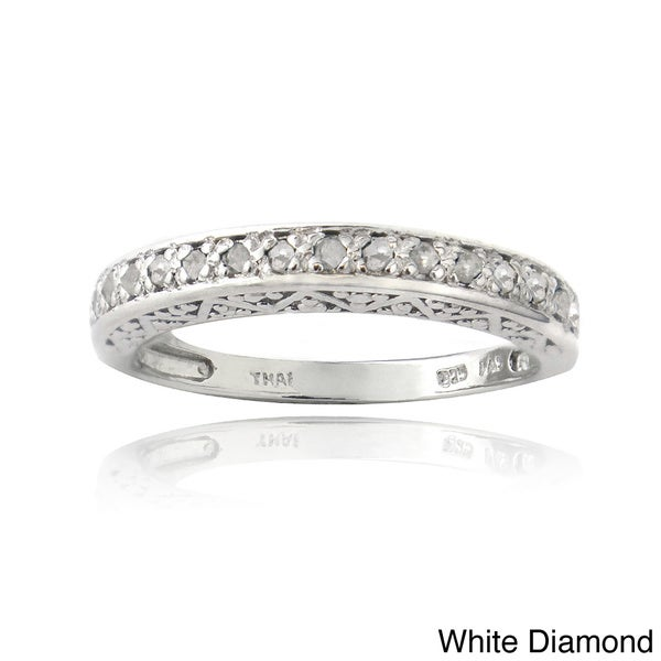 DB Designs Sterling Silver 1/6ct TDW Diamond Eternity Ring (I-J, I2-I3)