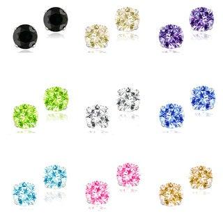Icz Stonez Sterling Silver 2 7/8ct TGW Cubic Zirconia Stud Earrings