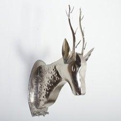 Iron Wall Mounted Deer Head Figurine (India)