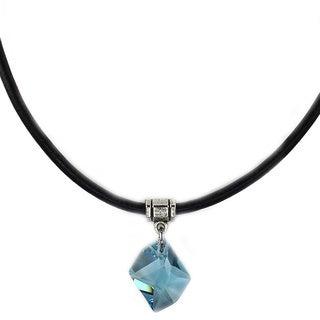 Jewelry by Dawn Aquamarine Cosmic Greek Leather Necklace