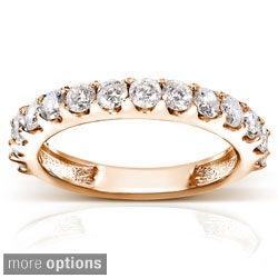 Annello 14k Gold 1ct TDW Diamond Semi-eternity Wedding Band (G-H, I1-I2)
