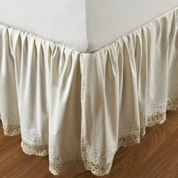 Ruffled Bella Crochet 18-inch Bedskirt