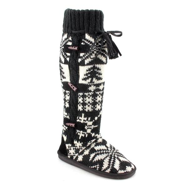 Muk Luks 'Mishka' Tall Knit Boot with Side Button Detail